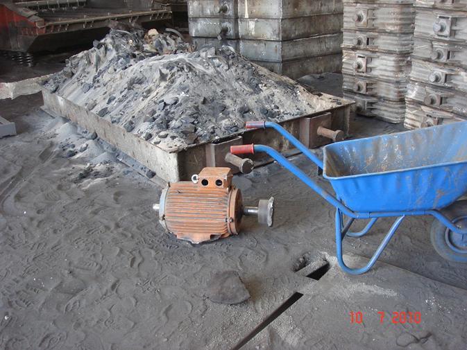 Resim 3: Aşırı yükten kırılan vincin motorlarından biri